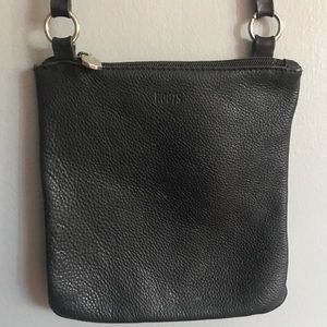 ROOTS black leather crossbody